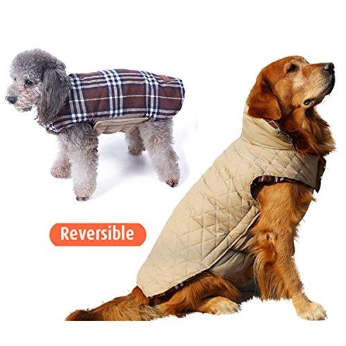 L-Peach Haustier Kleidung Hundemantel Einstellbar Reversible britische Art -