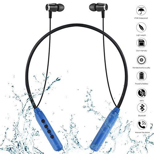 th-Sportkopfhörer, Schwimmen Tauchen Wasserdichte Bluetooth-Kopfhörer MP3, Mini-Knochenleitung MP3-Musik-Player - Schwimmen (32 GB),Blue ()