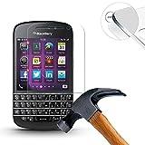 Lusee® Blackberry Q10 Protection écran en Verre Trempé ULTRA RÉSISTANT INDICE Dureté 9H Haute transparence( plus dure que un couteau) – il est vendu avec un torchon de nettoyage et alcool isopropilique