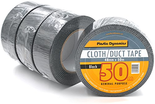 Plastic Dynamics® Duct Tape/Panzertape 48mm x 50m (Schwarz x4Rollen)
