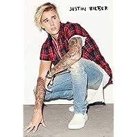 Poster Justin Bieber - Crouch - preiswertes Plakat, XXL Wandposter
