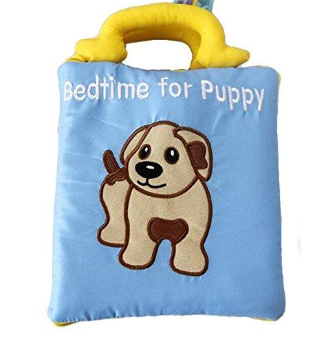 Achun Nettes Tierstickerei-Stoff-Buch-Baby-Intelligenz-Entwicklung, die Baby-Spielzeug Lernt