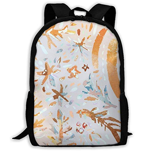 TRFashion Beauty Yellow Cool Pattern Unisex Custom Backpack School Casual Sports Book Bags Durable Oxford College Laptop Computer Shoulder Bags Lightweight Travel Daypacks Rucksack