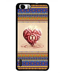 PrintDhaba Heart D-4039 Back Case Cover for HUAWEI HONOR 6 (Multi-Coloured)