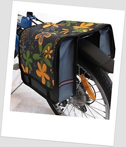 T-JOY-11 Fahrradtasche JOY Flower Yellow Kinderfahrradtasche Satteltasche Gepäckträgertasche 2 x 5 Liter KINDER
