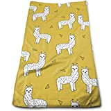 Biancheria da bagno, Beach Towel, Sports Towel, Hand Towels, Llama Mustard Yellow Bath Towels for Bathroom-Hotel-Spa-Kitchen-Set - Circlet Egyptian Cotton - Highly Absorbent Hotel Quality Towels
