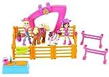 Mattel Polly Pocket CBW74 - Pferde Freundinnen Spielset inklusive 2 Puppen