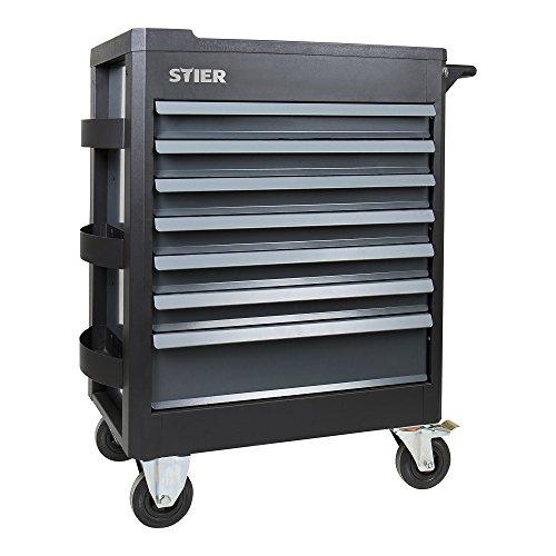 STIER Werkstattwagen Premium, mit Kunststoffabdeckung, leer und unbestückt, Werkzeugwagen -...