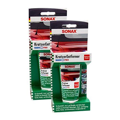 Preisvergleich Produktbild 2x SONAX 03050000 KratzerEntferner Kunststoff NanoPro Politur Silikonfrei 75ml