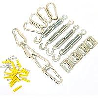 Woodside - Kit de fixation pour voile d'ombrage - 4 types d'éléments en acier galvanisé