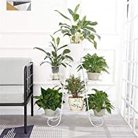 VHGYU 6 Tier Plant Stands Indoor Metal Plant Shelf Stand Outdoor Multilayer Potted Planters Display Rack Patio Garden (Color : White, Size : 74x76cm)