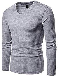 Shirt E Lunga Manica V A Polo Amazon it Scollo Maglia Maglie T xqHHzBPw