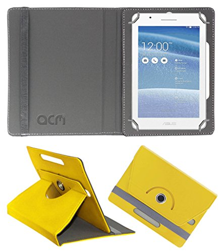 Acm Rotating 360° Leather Flip Case for Asus Tablet Fe171 Cover Stand Yellow  available at amazon for Rs.149