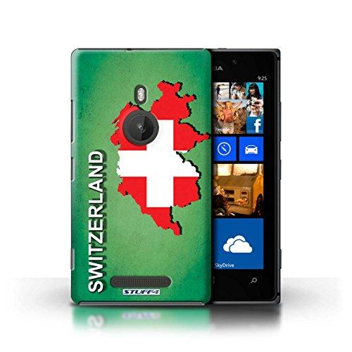 Coque de Stuff4 / Coque pour Nokia Lumia 925 / Ecosse/écossaise Design / Drapeau Pays Collection Suisse/Swiss