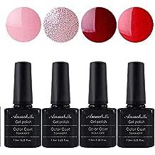 Annabelle Esmaltes Permanentes Para Uñas Nail Art Soak Off UV LED Esmalte Permanente de gel (Lot 4 pcs 7.3ML/pc ) 049
