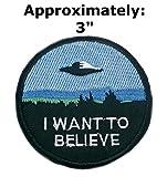 I Want to Believe patches Texte Mots Logo Thème espace et UFO Fans X-Files Série télévisée U-sky brodée patchs à coudre ou thermocollant Patch par Athena marques