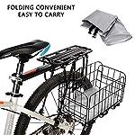 WisFox-Copri-Bicicletta-190T-Telo-Copribici-Copertura-per-Bicicletta-impermeabile-anti-polvere-sole-pioggia-vento-protezione-UV-per-mountain-bike-e-bici-da-strada-e-motocicli-con-borsa-nero-e-argento