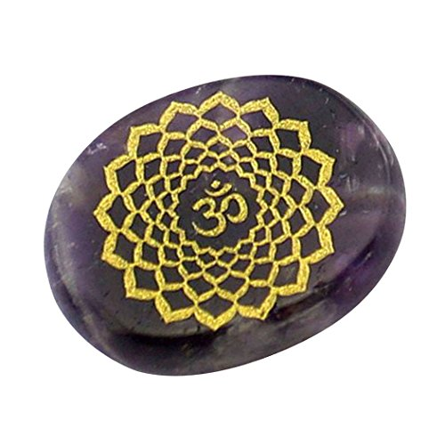 Contever® Incise Pietre di Equilibrio Reiki Chakra Salute Olistica Prodotti per La Cura - 1 Pz Ametista (Chakra della Corona)