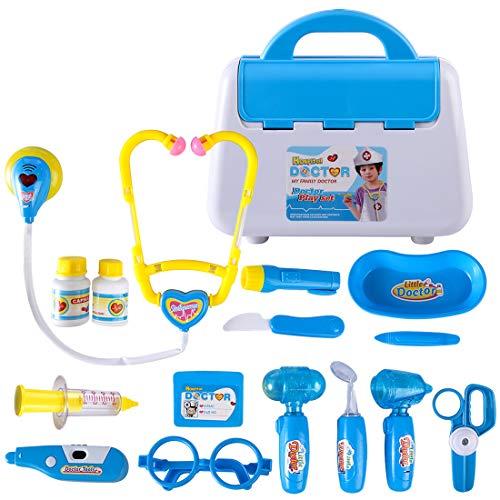 g, Sarztkoffer Kinder, Arztkoffer Rollenspiele Spielzeug, Simulierte Medizinische Kit- 15 Teile ()