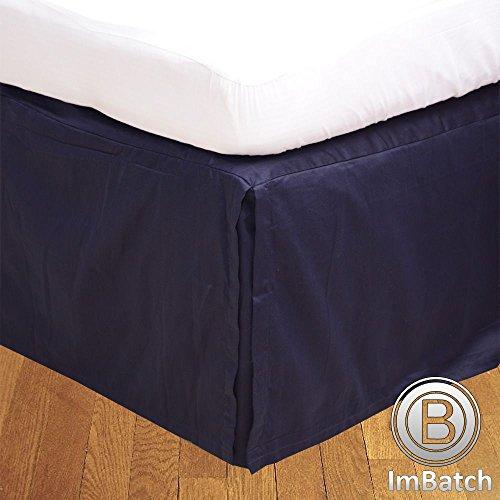 400TC, 100% cotone egiziano Elegant Finish 1Box Bund rughe Hose Copriletto massiccio (Drop lunghezza: 58,4cm), Cotone, Gold Solid, UK Small Double Navy Blue Solid