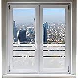 INDIGOS UG Sichtschutzfolie Fensterfolie Glasdekorfolie Dynamische Streifen satiniert blickdicht ORACAL® - 800mm Breite x 500mm Höhe - auch mit Individueller Breite