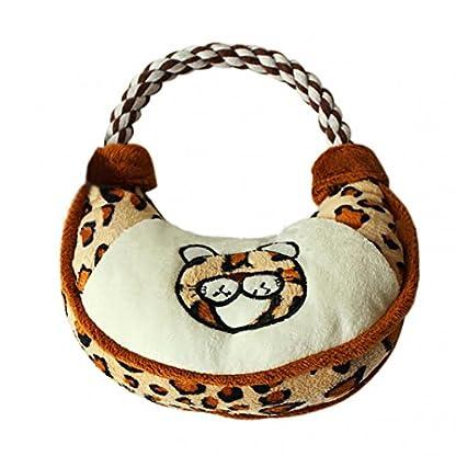 Lovely Handbag Shape Pet Dog Puppy Plush Chew Biting Play Fetch Training Toy - Random Color Random Style 1