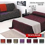 TEXTURAS HOME - Colcha foulard multiusos SOLID Cotton Bedspread Throw ( Varios tamaños disponibles ) (125_x_180_cm, Naranja-Granate)