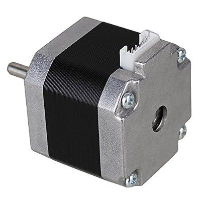 BQLZR Silber Antirutsch Nema 17 Stepper Motor 1,8 Grad 2 Phase DC3.3V fuer 3D-Drucker