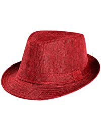 22bfcf4f35e28 Siswong Mens Womens Summer Panama Fedora Trilby Straw Beach Sun Hat Holiday  Traveling Hat