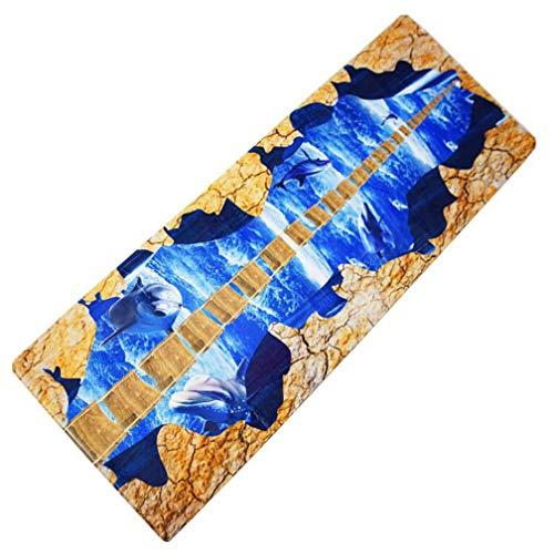 3D Bedruckte Langgeschossmatte, Bad Rutschfester Teppich, Küche Flannel Absorbent Pad Easy to Clean, Soft and Wearable, 60 * 180cm