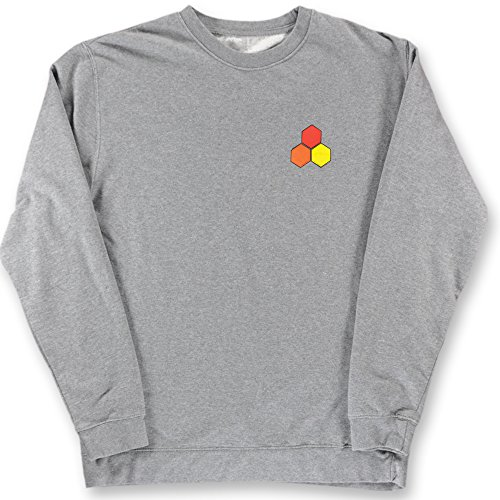 Channel Islands Surfbretter, wasserdicht Hex Crew Fleece Sweatshirt, Gunmetal Heather, Medium -