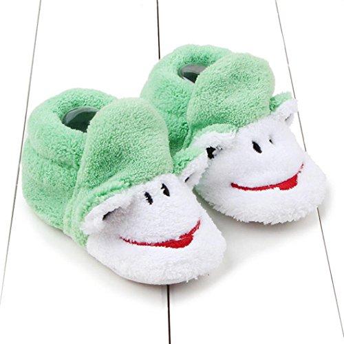 Baby Mädchen / Jungen Lauflernschuhe-Omiky® 0-8 Month Mädchen / Jungen Baumwolle Winter Baby Girl boys Kinder Schuhe Warme Schuhe Grün