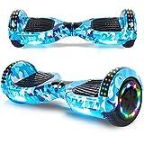 """BEBK Hoverboard 6.5"""" Smart Self Balance Scooter Elettrico Autobilanciato con LED, 2 * 250W Motore (Camouflage)"""