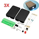 LaDicha 3Pcs DIY FLA-1 Simple Flashlight Circuit Board Electronic Kit