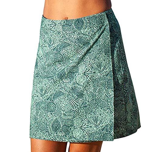 Strandkleider Pareos Damen Sonnenschutz Strand Rocks Wickelrock unterschiedlicher Größe Sommer Bikini tragen Strand Reise Böhmen Stil(Grün,M)