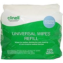 Cubo universal de toallitas Clinell REFILL paquete 225 Toallitas