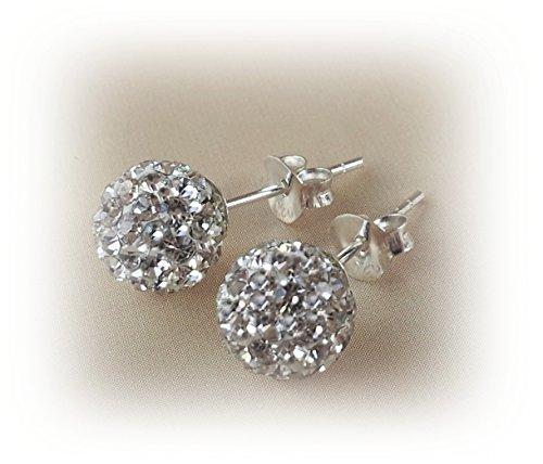 Decorum Jewellery Sterling Silver 925 8mm Swarovski Crystal Ball Stud Earrings. 8vhNl