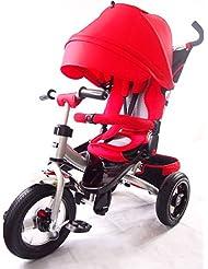 Little Tiger 4 en 1 Triciclo para niños con asiento giratorio y respaldo reclinable