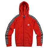 adidas Damen Slim FZ Hoodie Sweatshirt, Rot (Rojbas), 32