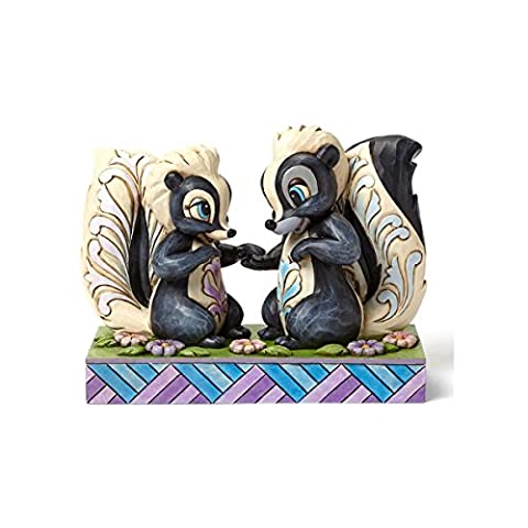 Disney Traditions 4049639 Figurine L'Amour est dans l'Air Fleur & Miss Figurine Multicolore 11 cm