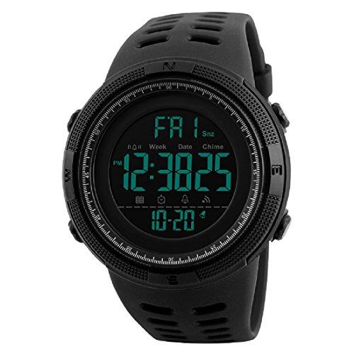 Elios S-Shock Digital Multifunction Chronograph Sports Men\'s Watch - Skm-1251-Black