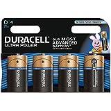 Duracell Ultra Power Typ D Alkaline Batterien, 4er Pack