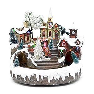 Gifts 4 All Occasions Limited SHATCHI-837 - Juego de decoración navideña para el hogar con luces LED
