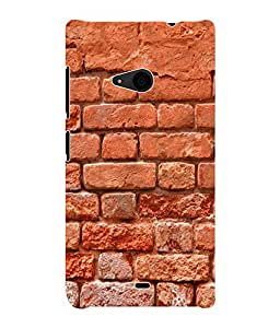 Fuson 3D Printed Brick Wall Designer Back Case Cover for Microsoft Lumia 535 - D889