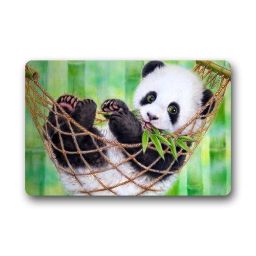 Panda Bear Funny Animal Art Doormats Entrance Mat Floor Mat Door Mat Rug Indoor/Outdoor/Front Door/Bathroom Mats Rubber Non Slip 23.6 X 15.8 Inch ()