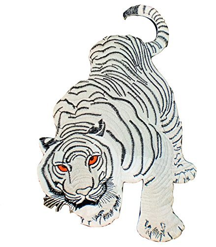 back-patch-tiger-thai-silk-embroidered-iron-on-large-white-bengal-tigris-size-75-x-115-inches-patche