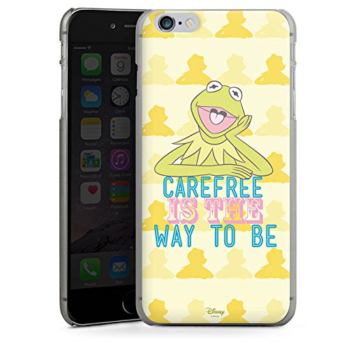 Apple iPhone X Silikon Hülle Case Schutzhülle Disney Kermit Fanartikel Merchandise Hard Case anthrazit-klar