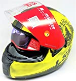 LS2 Helmets - FF320 - Stream - Garage Matt Yellow Black Dual Visor