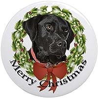CafePress–rotondo nero Lab–Decorazione Vacanza decorazione natalizia