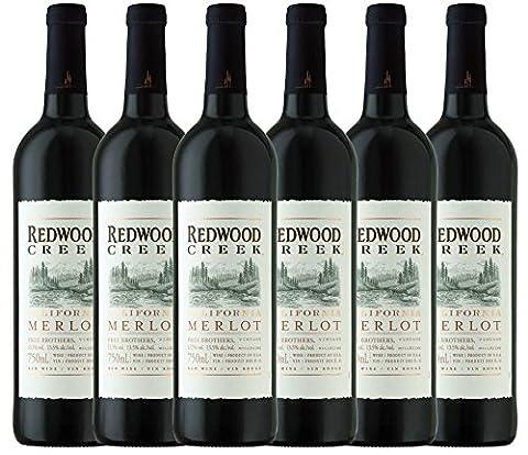 6er Paket - Redwood Creek Merlot - Frei Brothers | trockener Rotwein | amerikanischer Wein aus Kalifornien | 6 x 0,75 Liter
